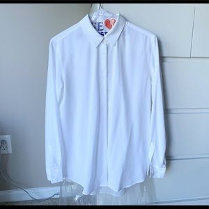 UnoQlo White Relaxed fit Button down Shirt